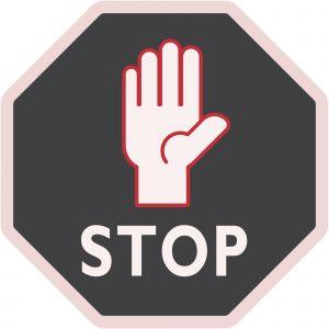 Floor Adhesive Graphics | STOP
