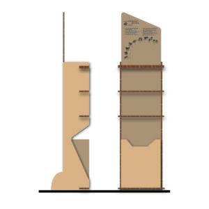 Espositore Green Porta Dispenser Manuale Per Gel Disinfettante Con Mensole E Cestino