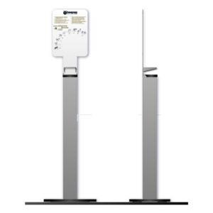 Colonnina Deluxe Porta Dispenser Manuale Per Gel Disinfettante