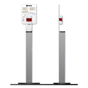 Colonnina Deluxe Con Dispenser Dotato Di Sensore Ad Infrarossi Per L'erogazione Automatica