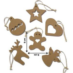 Addobbi Per Albero Di Natale – Kit Di 6 Pezzi